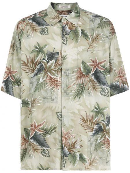 Прямая рубашка с короткими рукавами с воротником на пуговицах с карманами Pierre Cardin Pre-owned