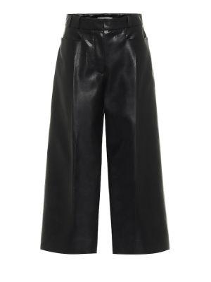 Черные кожаные кюлоты Stella Mccartney