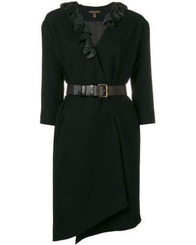 Платье миди с запахом винтажное с вырезом на молнии Louis Vuitton Pre-owned