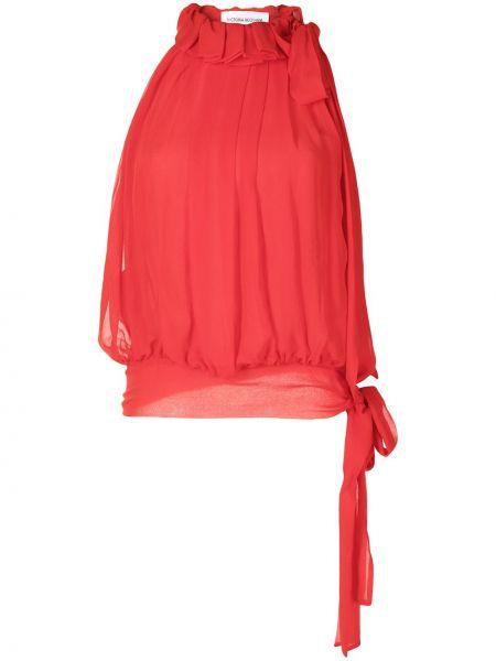 Красная шелковая блузка Victoria Beckham