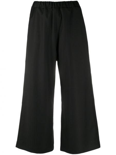 Черные укороченные брюки с накладными карманами с заплатками свободного кроя Sofie D'hoore