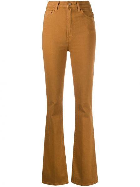 Приталенные коричневые прямые классические брюки стрейч J Brand