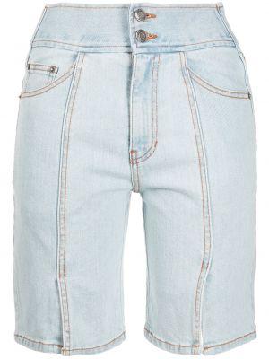 Джинсовые шорты до колена - синие Sjyp