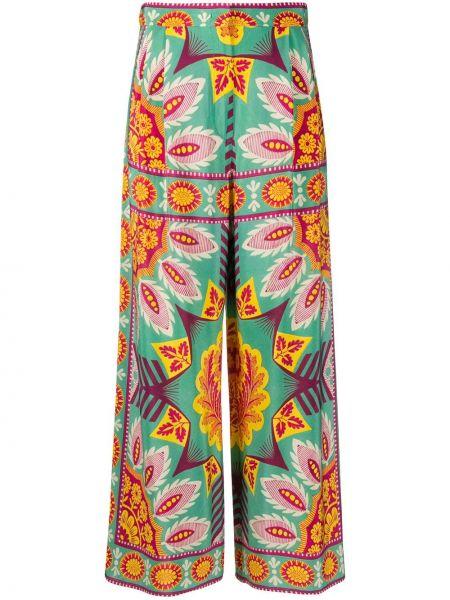 Шелковые плиссированные свободные брюки с карманами с потайной застежкой Weekend Max Mara