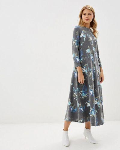 Платье серое осеннее Akimbo
