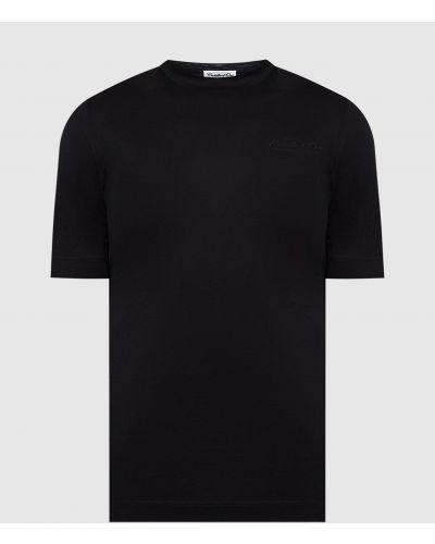 Футболка с вышивкой - черная Castello D'oro