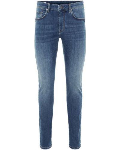 Mom jeans bawełniane - niebieskie J.lindeberg