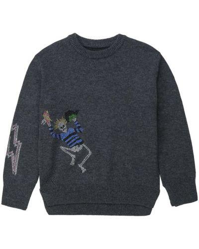 Prążkowany pulower wełniany z długimi rękawami Zadig & Voltaire