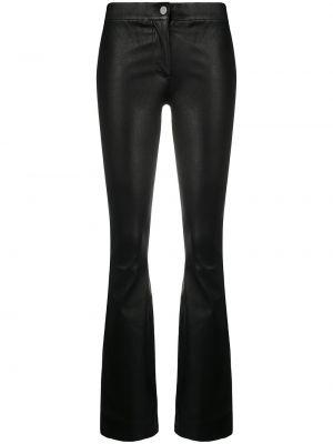 Расклешенные черные кожаные брюки Arma