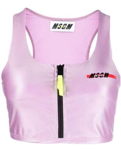 Розовый спортивный бюстгальтер Msgm