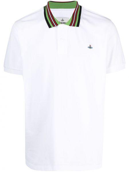Bawełna koszula krótkie rękawy z haftem z kołnierzem Vivienne Westwood