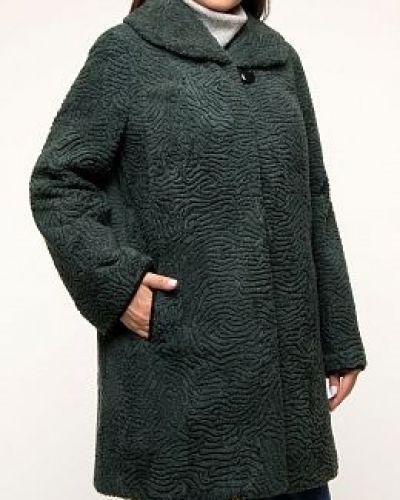 Пальто из овчины - зеленое Anna Romanova Furs