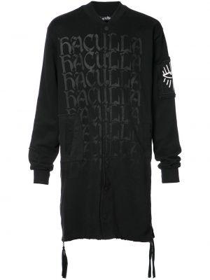 Czarna długa kurtka bawełniana Haculla