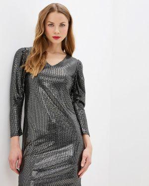 Вечернее платье осеннее черное Zarina