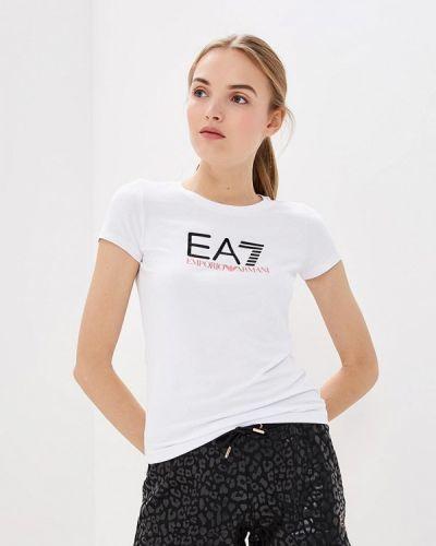 Белая футболка 2019 Ea7