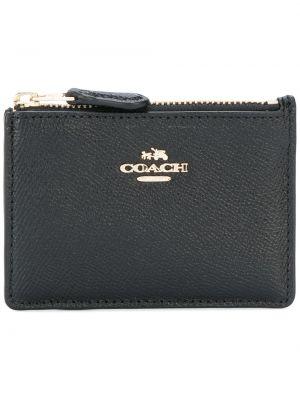 Кожаный кошелек с логотипом Coach