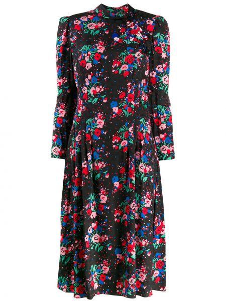 Платье макси с цветочным принтом плиссированное Marc Jacobs