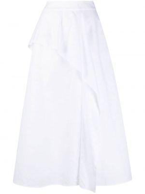 Прямая с завышенной талией белая юбка макси Agnona