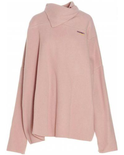 Różowy sweter Raf Simons