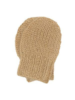 Ciepły kaszmir brązowy rękawiczki Caramel