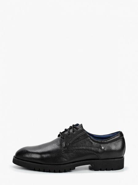 Кожаные черные туфли Pierre Cardin