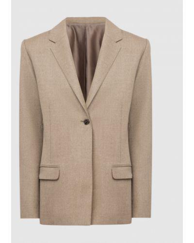 Шерстяной бежевый пиджак Toteme