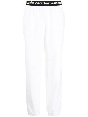 Prążkowane czarne spodnie bawełniane Alexander Wang