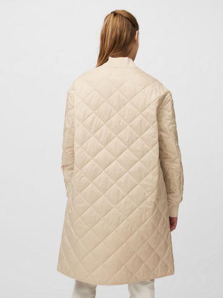 Утепленное бежевое пальто Marc O'polo Denim