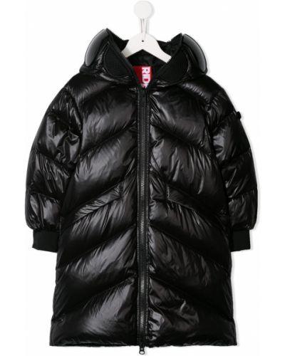 Черное пуховое длинное пальто с манжетами эластичное Ai Riders On The Storm Kids