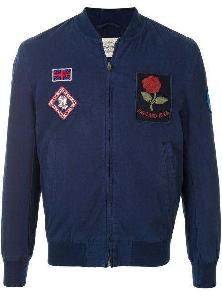 Niebieska długa kurtka z długimi rękawami Kent & Curwen