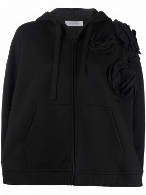 Klasyczny czarny ponczo z kapturem Valentino