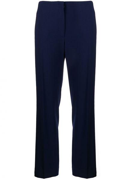 Свободные шерстяные синие брюки Ralph Lauren Collection