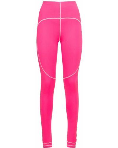 Różowe rajstopy z siateczką Adidas By Stella Mccartney