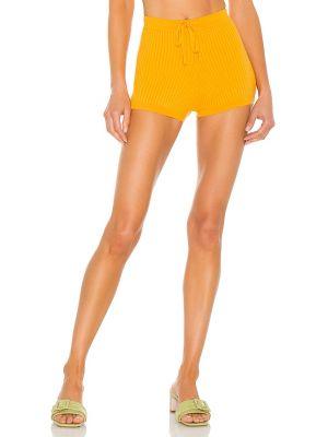 Текстильные оранжевые шорты на резинке Lovers + Friends