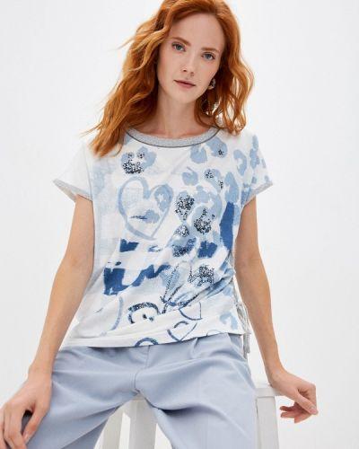 Блузка с короткими рукавами - голубая Passioni