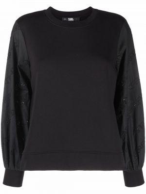 Толстовка с вышивкой - черная Karl Lagerfeld