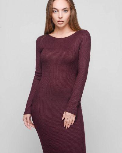 Платье осеннее красный Carica&x-woyz
