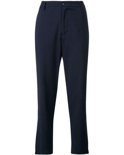 Укороченные брюки с карманами синие Barena