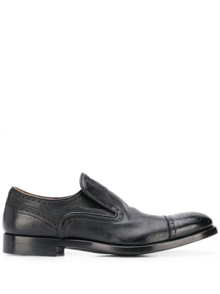 Классические кожаные черные броги Alberto Fasciani