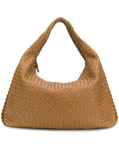Кожаная сумка сумка-хобо коричневый Bottega Veneta Pre-owned