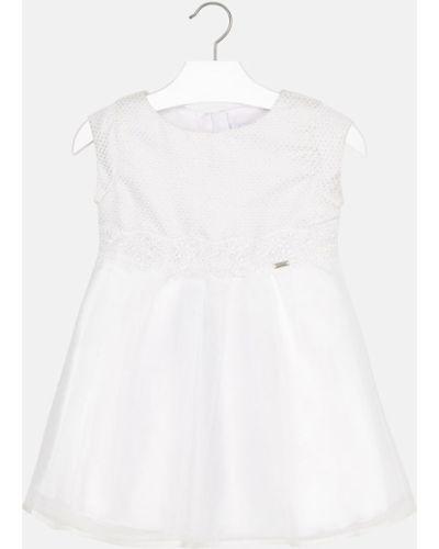 Платье с рукавами короткое однотонное Mayoral