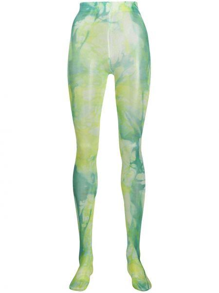 Rajstopy elastyczny zielony Versace