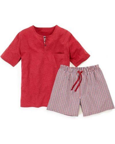 Пижама в клетку - красная Royal Class