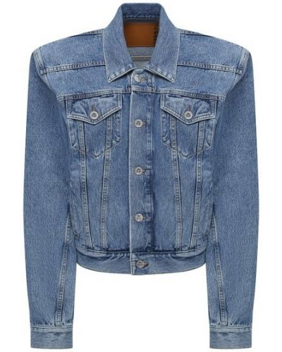 Хлопковая синяя джинсовая куртка Vetements