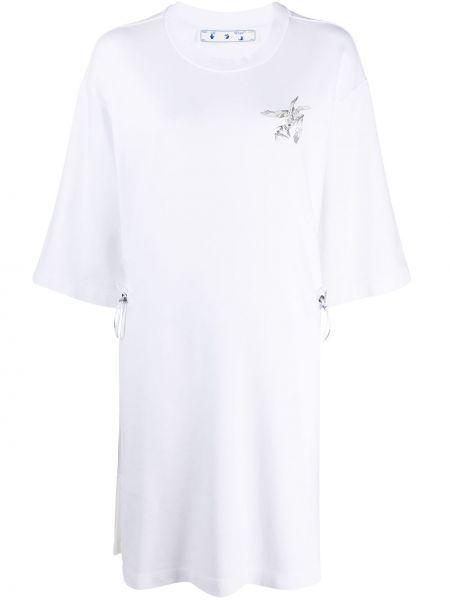 Ватное хлопковое белое платье Off-white