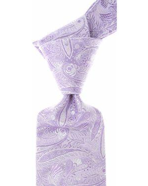 Szary krawat z jedwabiu Isaia