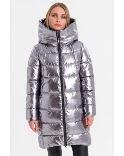 Серебряная утепленная куртка Lab Fashion