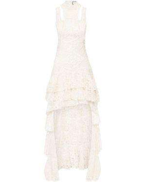 Белое нейлоновое платье макси с подкладкой Alexis