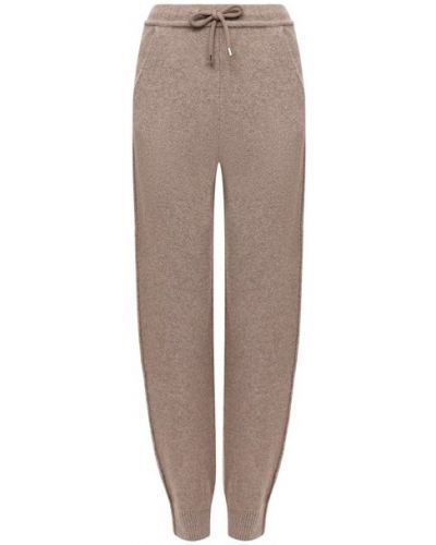Кашемировые бежевые брюки Giorgio Armani