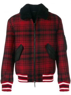 Кожаная красная кожаная куртка Tommy Hilfiger